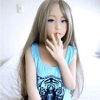 100CM Cute Pretty Silicone Sex Doll With Skeleton for man