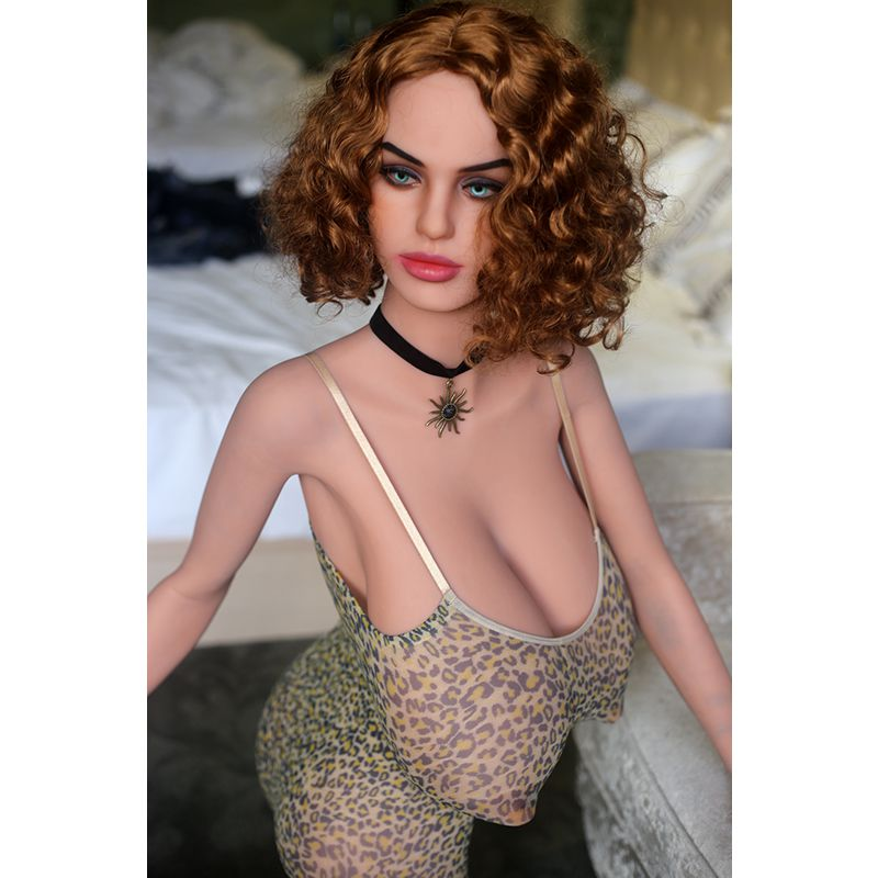Real silicone sex dolls 165cm realistic sexy love doll big breast.