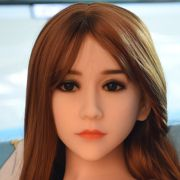NEW NEW Top quality #85 Tan skin sex doll head for silicone adult dolls, chinese love dolls head with oral sex, sex products